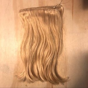 NWOT Halo Human Hair Light Blond (9/9A) Hairpiece.